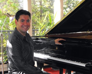Ian Parker - with his Steinway