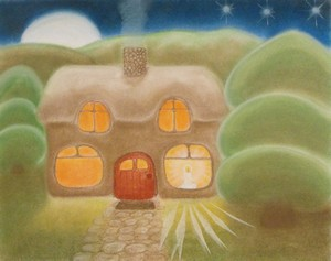 Little Candle - a Chalk Drawing by Rosemary Phillips