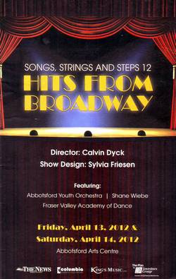 Songs Strings & Steps Program Cover